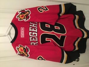 Autographed Calgary Flames Game Authentic Hockey Jersey