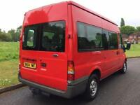 Ford TRANSIT MWB + HIGH ROOF + MINIBUS WITH LOW MILEAGE