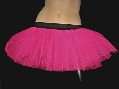 Plus Size Tutu Skirt (Women Adult Plus size Hot Pink Tutu Skirt Dancer Club Fancy Rave Neon)