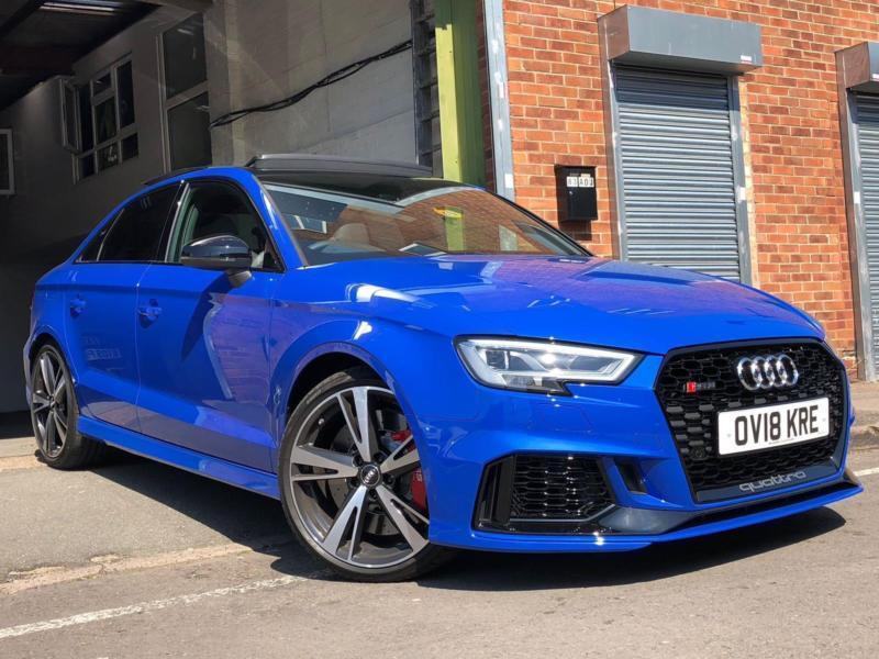 2018 18 audi rs3 saloon nogaro blue audi exclusive brand new may p x s3 rs4 rs6 in edgbaston. Black Bedroom Furniture Sets. Home Design Ideas