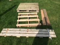 2 wooden pallets and other timber - Patcham