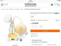 Medela Swing Electric Breast Pump Plus Extra Bottles - Brand New