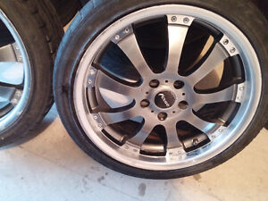 Mags and Tire Fast 225-40-ZR18 Bolt pattern 5X100