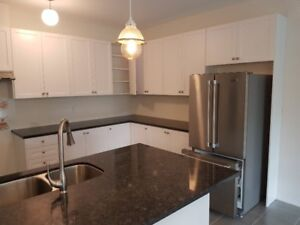 Kitchen for sale (with granite countertops,8 ft island & fridge)