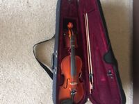 Children's violin and case