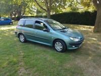 Peugeot 206 ESTATE 2.0 DIESEL 2002 95K MILES 5 STAMPS FULL MOT / 3 OWNERS