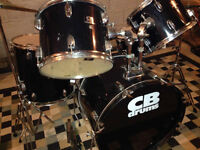 CB Drums 7 piece drum set