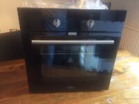 Black gloss glass electric built in oven