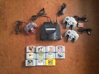 N64 Console, 3 Controllers and 11 games!!! only $200!