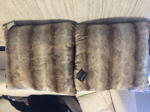 Brand new with tags - fur decor pillows