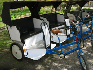 2 ELECTRIC/PEDAL PEDICABS FOR SALE. 1 NEW 1 USED