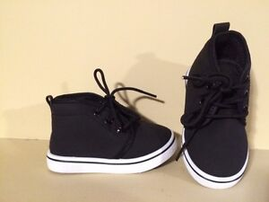Toddler Boys Black High Top Shoes - Size 6 - Brand new!
