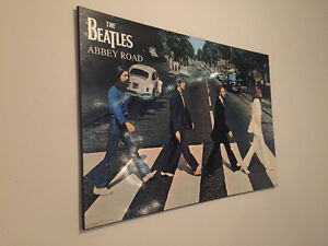 THE BEATLES ABBEY ROAD Wood Plaque London Ontario image 1