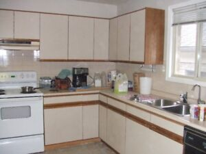 FREE FOR THE TAKING:   KITCHEN CUPBOARDS, ISLAND AND COUNTER