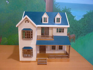 Calico Critter Deluxe Village House with extras
