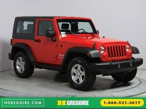 2010 Jeep Wrangler 4WD A/C 2TOITS MAGS