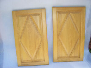 22 Oak diamond pattern cabinet doors,lacquer finished