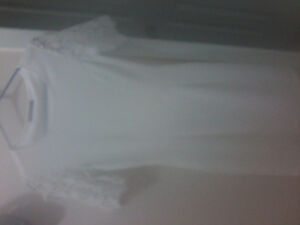 Beautiful white Suzy shier dress Kitchener / Waterloo Kitchener Area image 1
