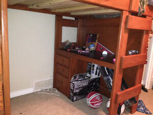 double loft bed with desk/drawers and shelf Regina Regina Area image 3