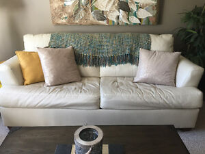 LEATHER SOFABED & LOVESEAT