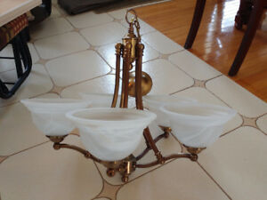 Lustre 5 lumières bronze