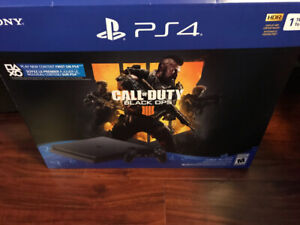 PS4 slim 1TB with COD BO4 new used only for 2 months