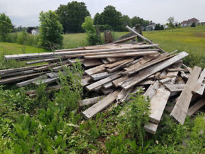 Free.......Barn board, floor sections and beams