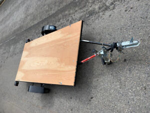 As new motorcycle trailer 4'x8'