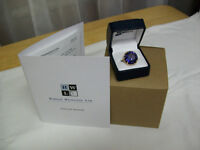 14 KT. CHANGE OF COLOR SAPPHIRE RING / 26 CARAT