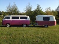 VW 1969 Bay Campervan and Erica Puck (1972)