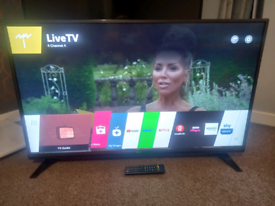 """43"""" 4K UHD LG SMART FREEVIEW TV WITH WIFI APPS AND REMOTE WE DELIVER"""