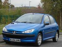 PEUGEOT 206 1.4HDi 70 ( a/c ) 2004 S, 1 LADY OWNER,FULL MOT,ONLY £30 TAX A YEAR,