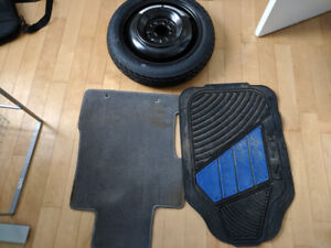 Civic Floor mats, all season tires, spare tire and car lift.