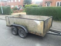 CHEAP 8x4 twin axle trailer