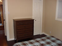 4-drawer Dresser, side table and double bed