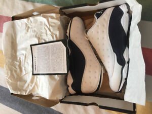 Jordan 13 blue and white golf shoes
