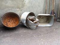 Chaudron et cuve a lessive antique Betty $ 20.00 450-582-7787