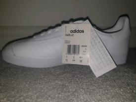 All white Adidas Gazelle