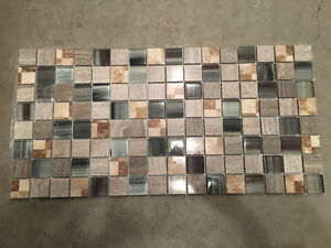 1 1/2 X 1 1/2 glass and marble