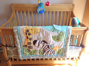 Crib Bedding jungle theme Carters 4 piece set