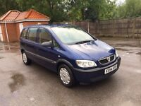 2004 (54) Vauxhall Zafira 1.6 7 Seater 77K 1 Owner Service History Air Con Cd Player