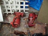 Two 2 inch inlet 1/6 HP 120 volts Hot Water Circulating Pumps