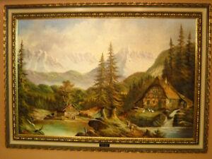 Deux peinture a huile