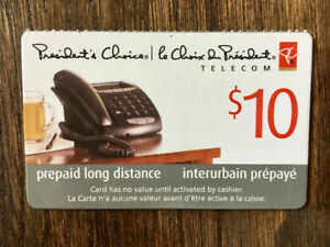 Calling Card $60 Value - President's Choice Long Distance