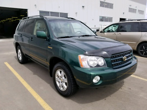 2001 Toyota highlander limited V6 3.0 AWD