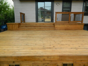 Decks and Fences- We build and maintain