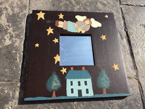 Hand-Painted Angel Mirrors