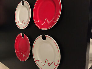 Set of 4 Christmas plates