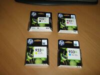 Genuine Original Hewlett Packard 932XL/933XL High Capacity Ink Cartridges BNIB Cost Over £60 Bargain