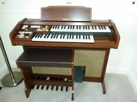 Technics electronic organ keyboard with stool - PCM Sound E11L